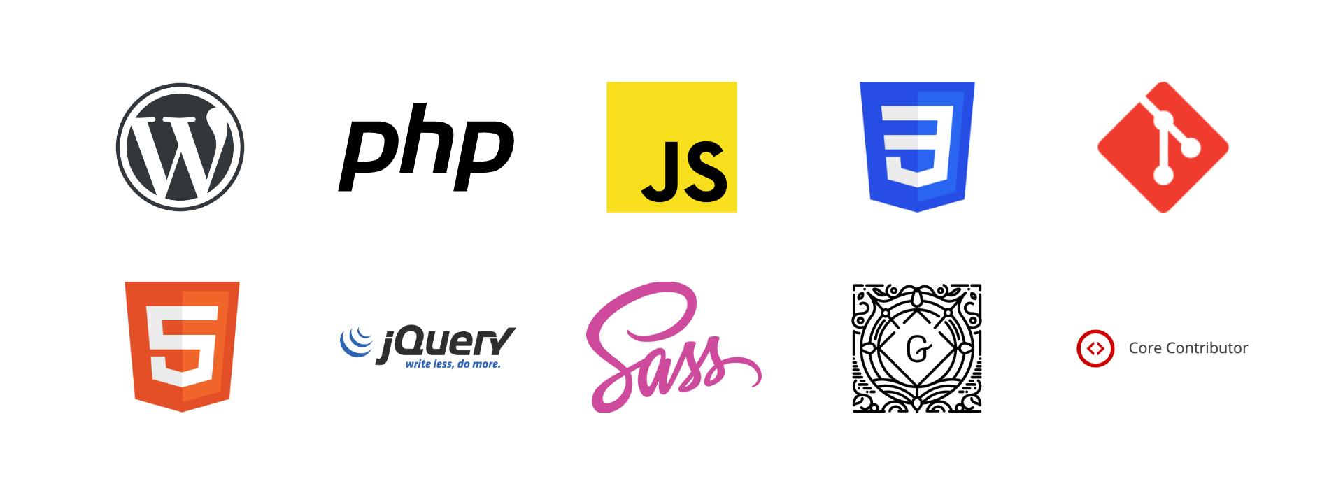 WordPress | PHP | JavaScript | CSS3 | Git | HTML5 | jQuery | Sass | Gutenberg | WordPress Core Contributor